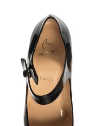 Christian Louboutin Black Neo Pensee 100Mm Patent-Leather Pumps