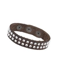 Will Leather Goods | Brown Studded Bracelet for Men | Lyst