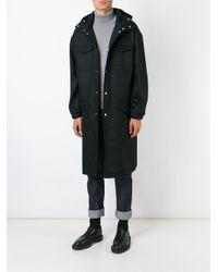 AMI Black Oversized Hooded Parka for men
