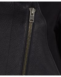 Helmut Lang - Black Wither Hood Leather Jacket - Lyst
