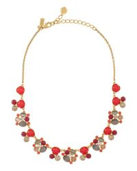 kate spade new york | Multicolor Bashful Blossom Necklace | Lyst