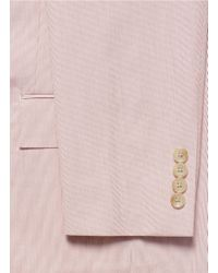 J.Crew Pink 'ludlow' Suit Jacket In Fine-striped Cotton for men