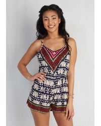 Angie - Blue Fun, Two, Three, Four Romper - Lyst