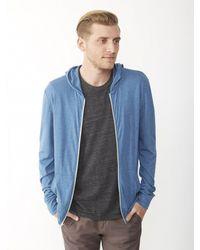 Alternative Apparel - Blue Basic Ecojersey Zip Hoodie for Men - Lyst