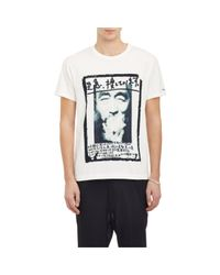 Yohji Yamamoto - White Self-portrait Jersey T-shirt for Men - Lyst