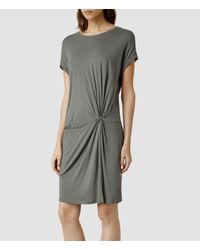 AllSaints | Gray Mast Mar Dress | Lyst