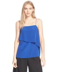 Tibi - Blue Draped Camisole - Lyst