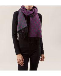 Hobbs - Purple Sophie Spot Scarf - Lyst