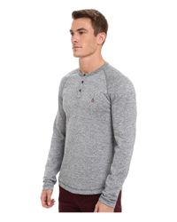 Original Penguin | Blue Flecked Cvc Slub Henley for Men | Lyst