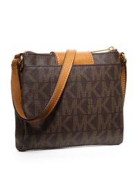 MICHAEL Michael Kors | Brown Fulton Small Saffiano Leather Messenger | Lyst