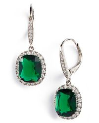 Nina - Green Stone Drop Earrings - True Emerald - Lyst