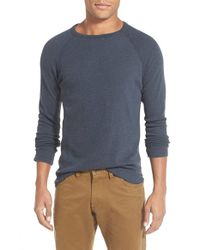 Billy Reid | Blue Honeycomb Raglan Pullover for Men | Lyst