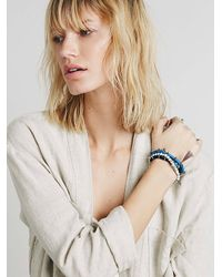 Free People | Blue Mantra Beaded Bracelets | Lyst