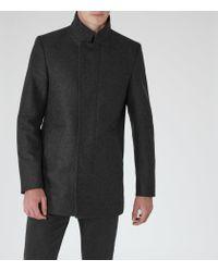 Reiss - Gray Lansky Funnel Collar Coat for Men - Lyst