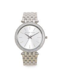 Michael Kors Metallic Darci Glitz Watch - Silver