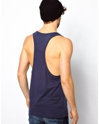 ASOS | Blue Tank with Ornate Kaleidoscope Print and Extreme Racer Back for Men | Lyst