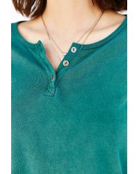 Project Social T - Green Joey Henley Top - Lyst