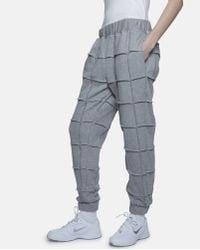 Nicopanda Gray Exposed Seam Sweatpants