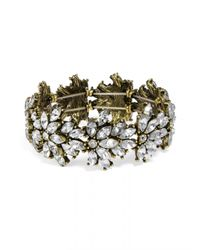 BaubleBar - Metallic Crystal Tiffany Stretch Bracelet - Lyst