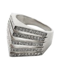 Noir Jewelry - Metallic Carla Pave Pyramid Spike Ring - Lyst