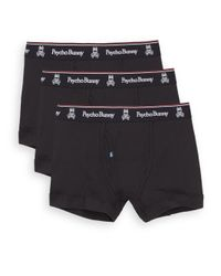 Psycho Bunny | Black Vintage Cotton Boxer Briefs, 3-pack for Men | Lyst