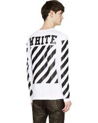 Off-White c/o Virgil Abloh - Black And White Knit Shirt for Men - Lyst