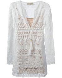 Emilio Pucci White Crochet Dress