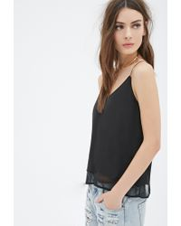 08a4bf2f61a7b0 Forever 21 Crepe Cami Top in Black - Lyst