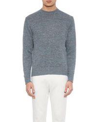 Inis Meáin Gray Donegal Melange Washed-Linen Sweater for men