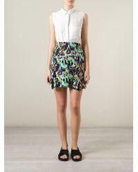 KENZO - Black 'torn Flowers' Jacquard Skirt - Lyst