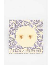 Urban Outfitters Metallic Stud Gift Card Earring