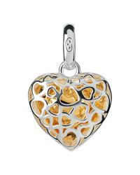 Links of London - Metallic Cage Heart Charm - Lyst