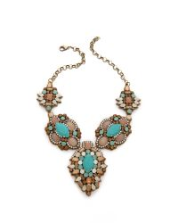 Deepa Gurnani - Blue Colorful Stone Necklace - Lyst