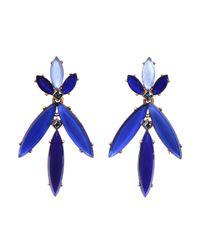 Oscar de la Renta - Blue Marquise Stone Resin Earring - Lyst