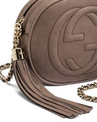 Gucci - Gray Soho Nubuck Leather Mini Chain Bag - Lyst