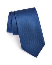 BOSS Blue Woven Silk Tie for men