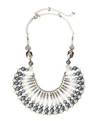 Nakamol | White Crystal And Pearl Bib Necklace | Lyst