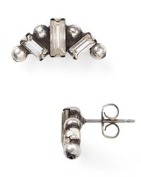 DANNIJO | Metallic Maggie Stud Earrings | Lyst