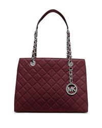 MICHAEL Michael Kors | Purple Susannah Quilted Leather Tote | Lyst