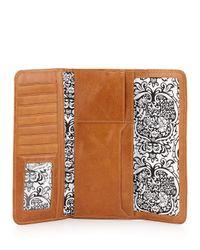 Hobo Brown Sadie Leather Tri-Fold Wallet