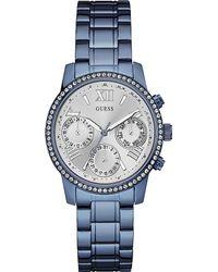 Guess Metallic W0623l1 Mini Sunrise Stainless Steel Watch