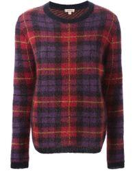 P.A.R.O.S.H. - Multicolor Checked Crew Neck Sweater - Lyst