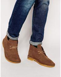Clarks - Brown Desert Boots for Men - Lyst