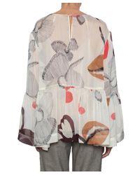 Erika Cavallini Semi Couture - Natural Pacha Silk Blouse - Lyst