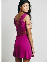 Free People | Purple Womens Summer Feeling Dress | Lyst