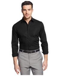 Michael Kors | Black Tailored-Fit Shirt for Men | Lyst