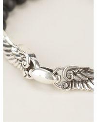 King Baby Studio - Black Beaded Wing Charm Bracelet - Lyst