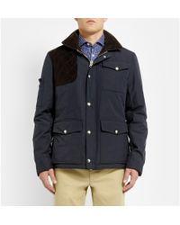 Michael Bastian Blue Corduroy-Panelled Cotton Jacket for men