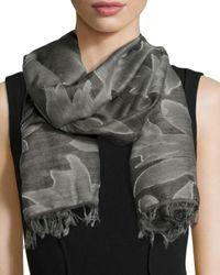 Rag & Bone - Gray Gracie Textured Wool Scarf - Lyst