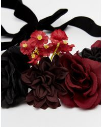ASOS - Multicolor Mixed Flower Hair Garland - Lyst